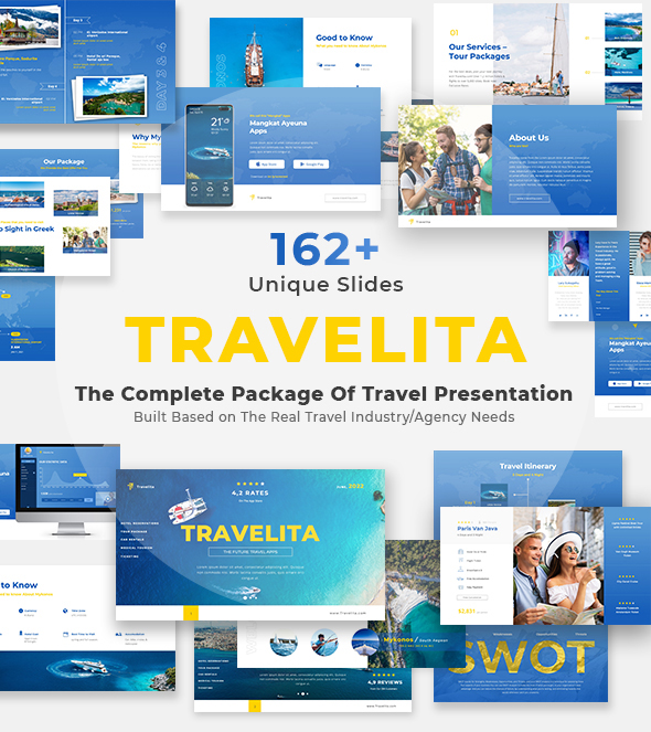 Create The Travel Presentation With The Help Of Template